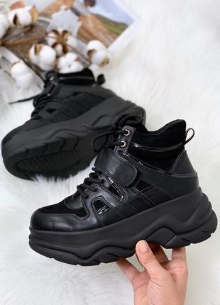 Хайтопы черные, кроссовки черные высокие, хайтопы комбинированные