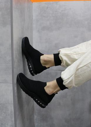 Кроссовки мужские текстильные, кроссовки черные текстильные