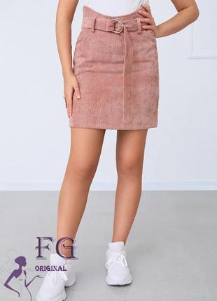 Юбка вельветовая, юбка короткая вельвет, юбка с высокой талией...