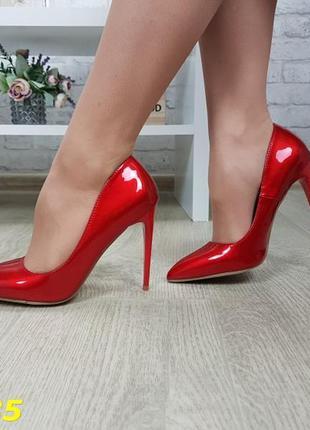 Туфли красные лаковые, лодочки лаковые красные, туфли лодочки ...