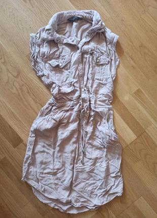 Рубашка new look пудра, рубашка туника удлиненная пудра