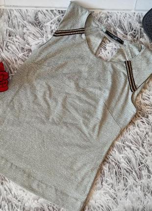 Топ philosophy blue серый на подкладке, блуза серая