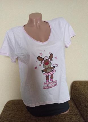 Футболка для сна, женская футболка george розовая