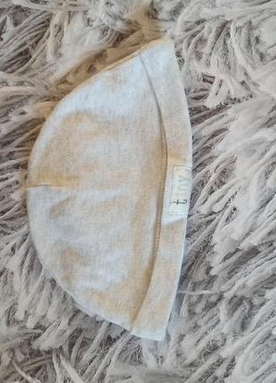 Шапка george серая, шапка чепчик для новорожденного