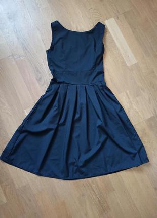 Шикарное классическое платье чёрное, платье с пышной юбкой, пл...