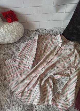 Рубашка george белая в полоску