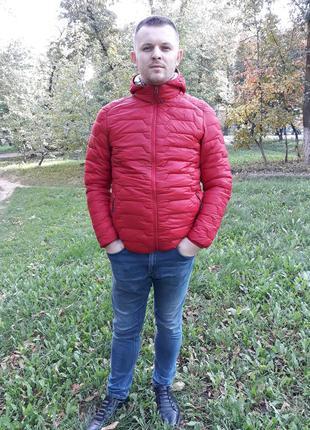 Стеганая мужская демисезонная куртка весна осень