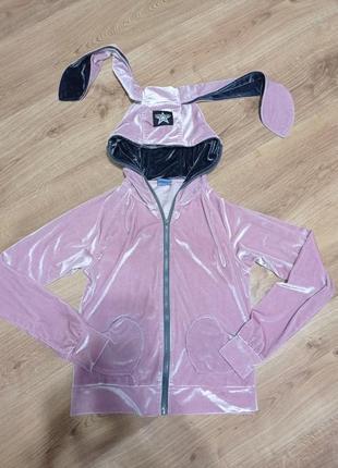 Велюровий спортивний костюм зайчик