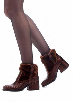 Кожаные ботинки осень-весна