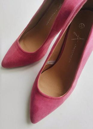 Туфли лодочки замшевые розовые asos