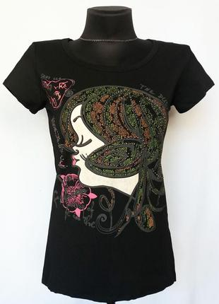 Суперцена. стильная футболка, оригинальный принт. новая, р. m