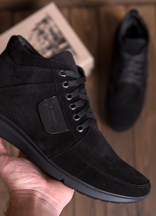 Мужские  зимние ботинки c натуральной замши VanKristi