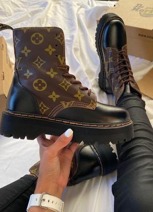 Ботинки dr martens jadon x louis vuitton ( осінь ) черевики