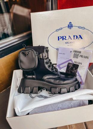Ботинки PRADA Monolith , люкс качество с документами 36-40р.