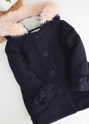 Красивенное пальто зара на 3-4г,хб подклад