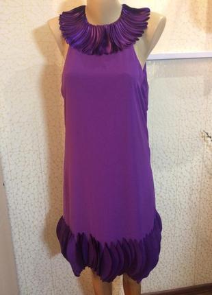 Шикарное нарядное  шифоновое платье