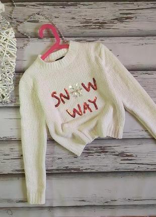 9 лет велюровый свитер шеннил new look