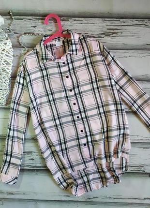 11-12 лет удлиненная рубашка- туника вискоза f&f