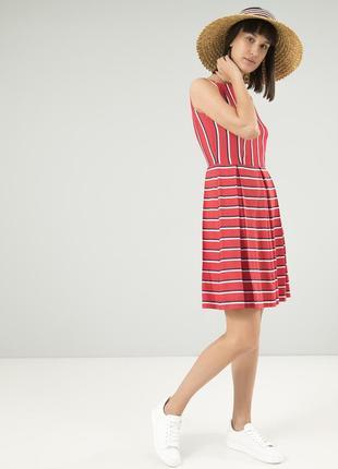 Летнее платье season в модную полоску