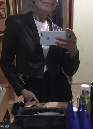 Пиджак жакет укорочённый базовый