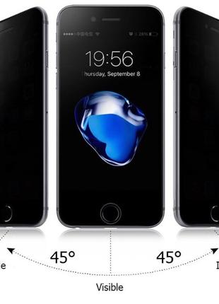Защитное стекло антишпион на iPhone 6,6s.
