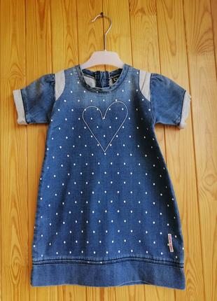 Джинсовое платье, 4-5 лет