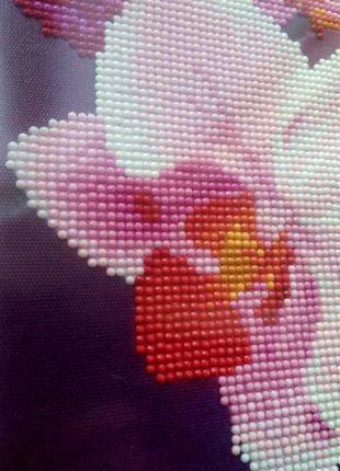 Алмазная живопись,алмазная мозаика стразами,орхидея с бабочкой,5D