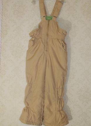Теплые зимние штаны полукомбинезон на мальчика или девочку