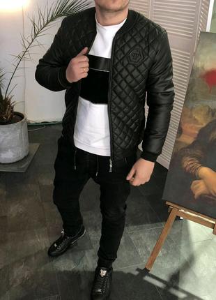 Осенняя куртка бомбер Philipp Plein