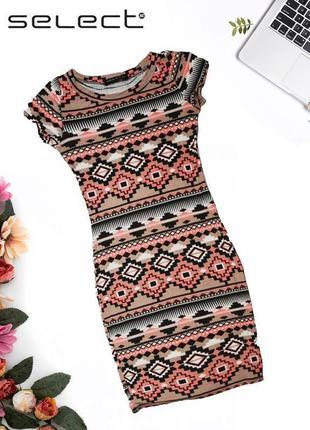 Платье с геометрическим принтом select