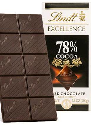 Швейцарский, черный шоколад Lindt Exсellence 78 какао