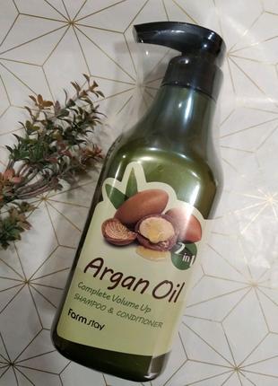 Шампунь-кондиционер с aргановым маслом FarmStay Argan Oil Complet