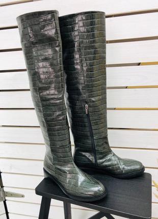 Lux обувь! шикарные ботфорты ❤️ высокие сапоги зима деми кожа