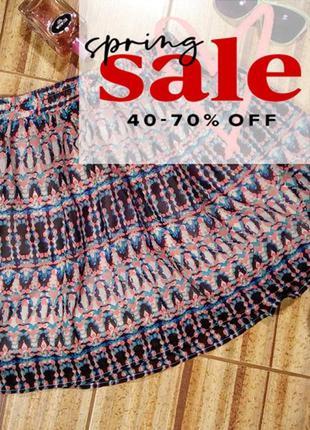 Очаровательная летняя легкая юбка в яркий принт от vero moda, р.s