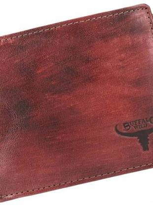 Мужское кожаное портмоне ALWAYS WILD SN992CHHP коричневое