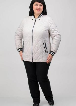 Женская куртка демисезонная осень весна большой размер