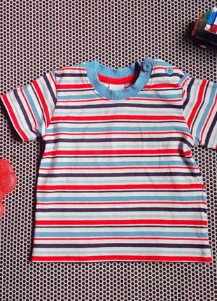 Детская полосатая футболка disney на пол годика