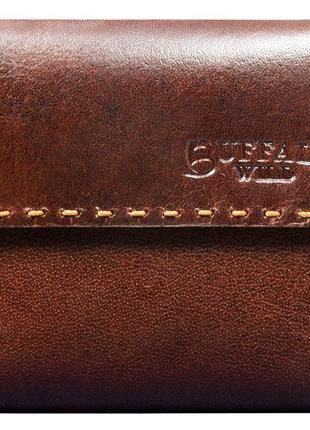 Мужское кожаное портмоне ALWAYS WILD CC2BWJ коричневое
