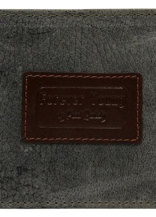 Кожаное мужское портмоне ALWAYS WILD N992VTP серое