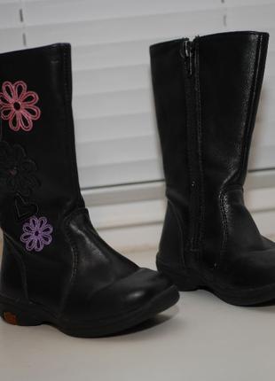 Весенне-осенние кожаные сапоги для девочки 14 см