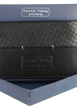 Горизонтальное кожаное мужское портмоне ALWAYS WILD N951PVT black