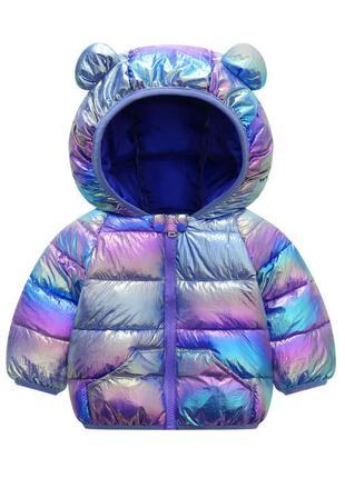 Хит этого сезона Деми куртка хамелеон разные цвета 80,90,100,110,