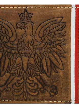 Мужское кожаное горизонтальное портмоне Always Wild, коричневое