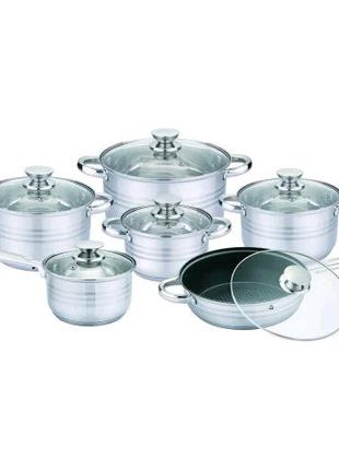 Набор посуды из нержавеющей стали с 5-ти слойным дном