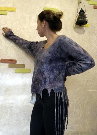 Свитшот свитер ручной работы