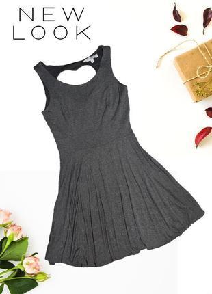 Платье с вырезом в виде сердечка на спине new look