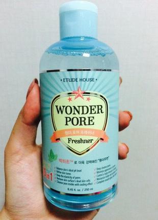 Многофункциональный тонер etude house wonder pore freshner 10 в 1