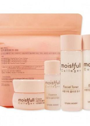 Мини набор с коллагеном etude house moistfull collagen skin care