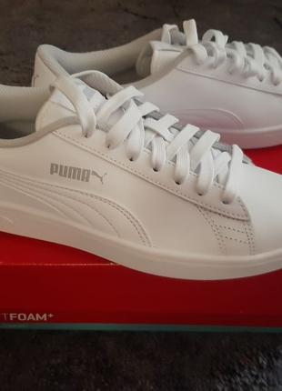 Кроссовки Puma Smash v2 L Jr белые