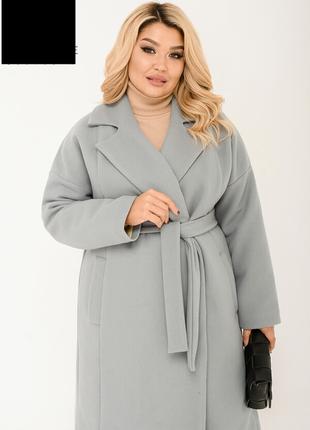 Пальто женское стильное длинное осеннее на синтепоне размеры: ...